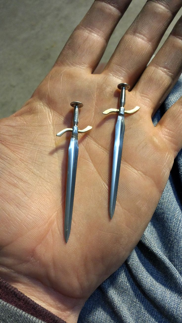 How To Miniature Sword From A Nail Dollhouse Miniatures