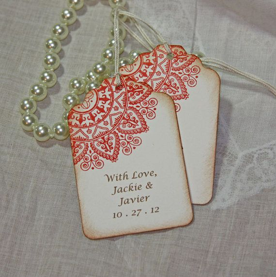 Mehndi Wedding Tags Indian Inspired by TorisCustomCreations, $40.00