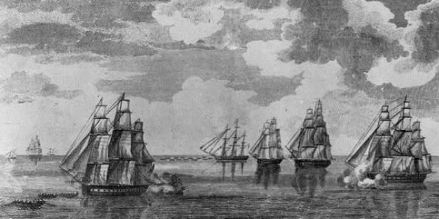 Masterful Escape of USS Constitution Raised American Morale in 1812: Skillful Sailing Let USS Constitution Escape From a British Squadron
