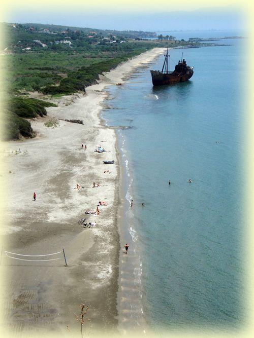 Selenitsa beach in Gythio (Laconia pref.)