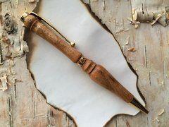 Hand Turned Ballpoint Pen - 'Lady of the Lake' Style, Bird's Eye Maple