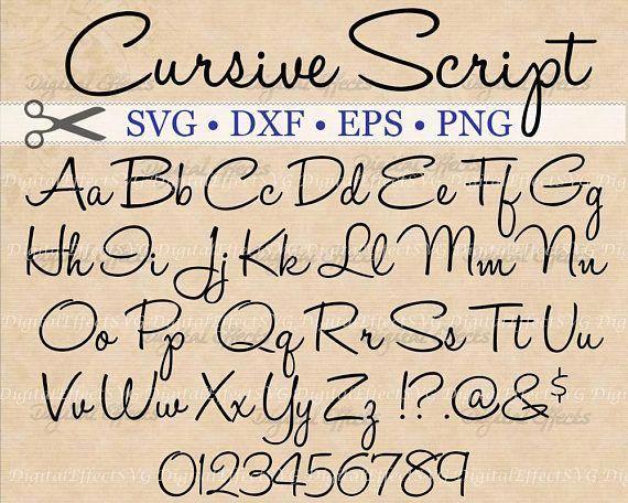 Cursive Script Svg Handwriting Script Monogram Font Svg Dxf Eps Png Handwritten Script Cursive Svg Font Silhouette Files Cricut Svg In 2020 Script Monogram Font Lettering Alphabet Hand Lettering Tutorial