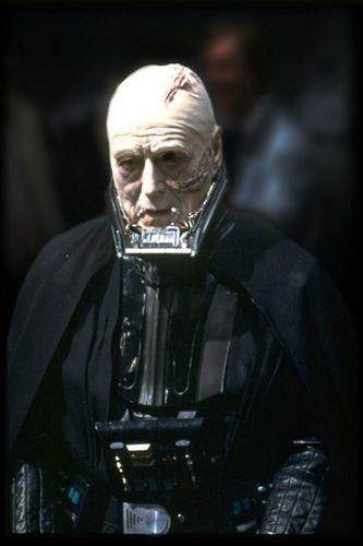 Sebastian Shaw as an unmasked Darth Vader