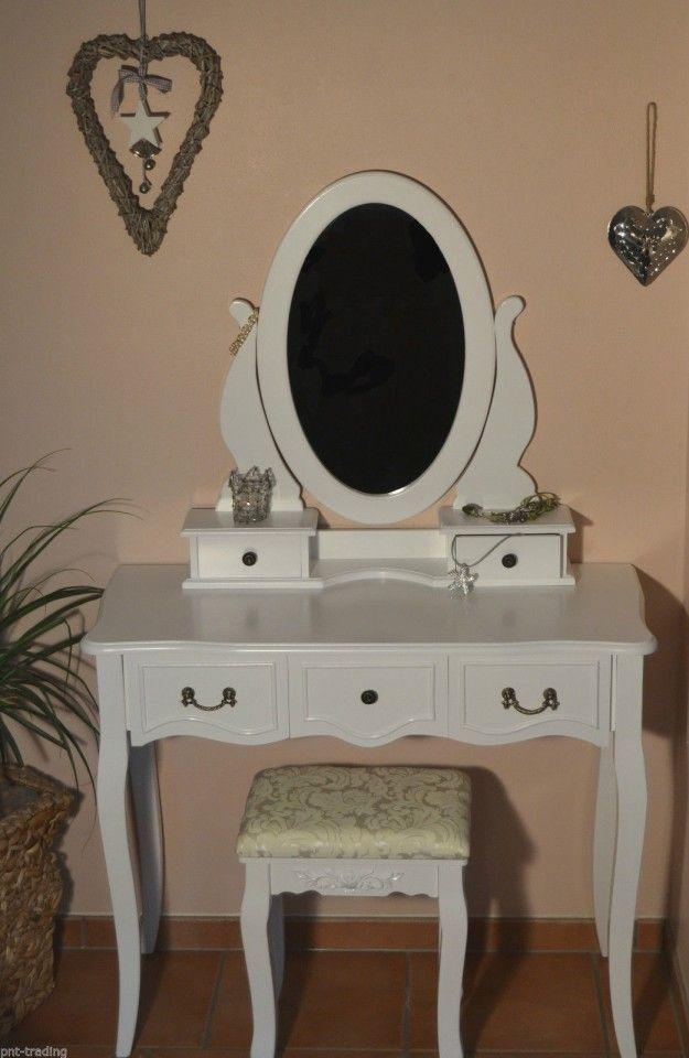 SEA213 Masuta de machiaj cu oglinda si scaunel - http://www.emobili.ro/cumpara/sea213-set-masa-alba-toaleta-cosmetica-machiaj-oglinda-masuta-vanity-443 #eMobili