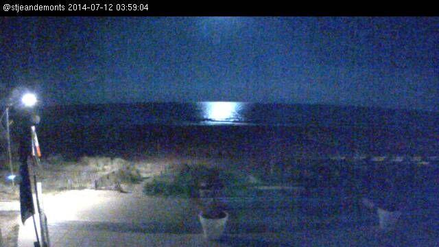 Webcam Plage Saint-Jean-de-Monts - La super lune en direct (2014-07-12)