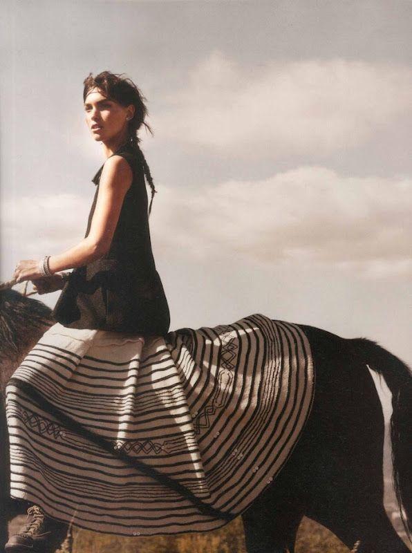 arizona muse by kayt jones for i-d summer 2012: Horseback Riding, Kyte Jones, I D Summer, Girls Skirts, Arizona Muse, Wild At Heart, Bohemian Style, Free Spirit, Black Hors