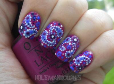 Vera Bradley nails! Boysenberry!!! One of my favorite patterns!