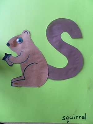 """S is for Squirrel."" There are pictures and crafts for every letter as a creature on Waldorf Edu. sites that can be used in public school."