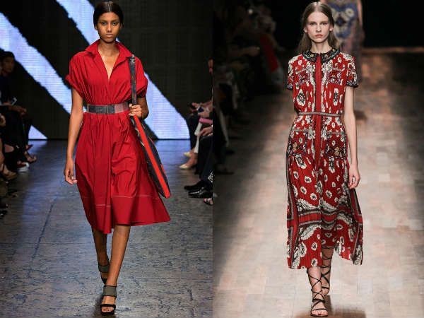 Модные повседневные платья с воротниками весна-лето 2015