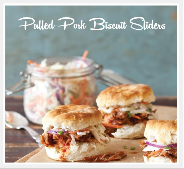 {RECIPES} Pulled Pork Biscuit Sliders | Oh How Posh | Blog