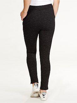 Pantalon - Pantalon skinny super taille haute avec zips - Kiabi