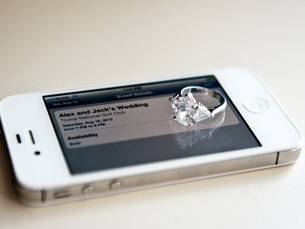 After springing for shiny new wedding bands, you'll bet they'll be part of your wedding footage. Photographers are coming up with crazy-inventive places to put your rings, including on your iPhone, a miniature picket fence (we kid you not), a Christmas tree, and more.Photo Credit: Kessler Photography