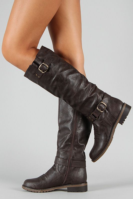 73906671e22 Dillian-7 Buckle Knee High Riding Boot - the quest for motorcycle boots  continues...