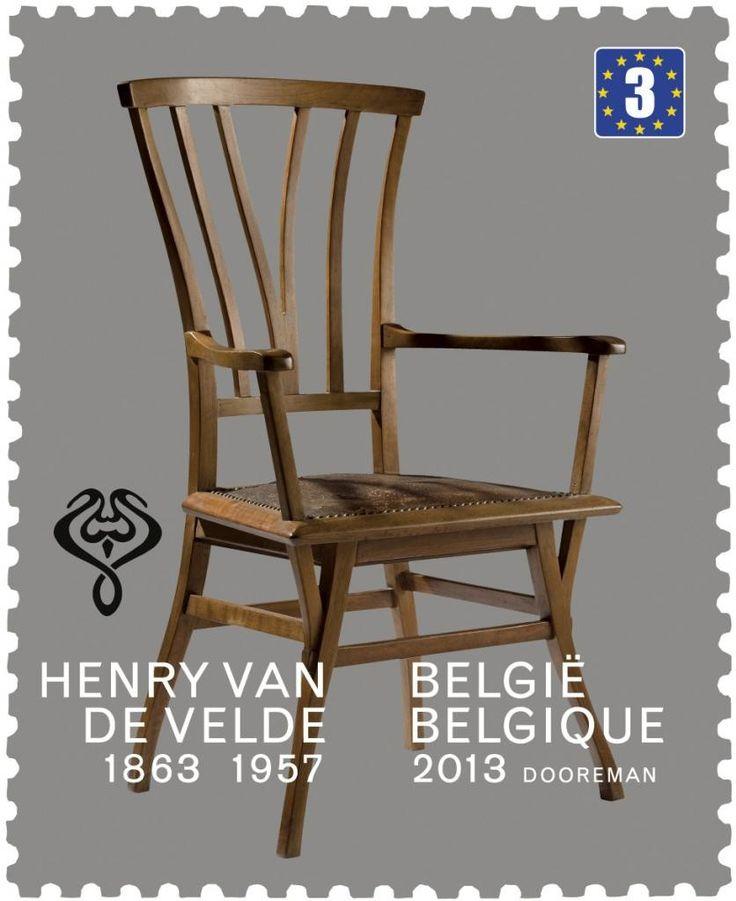 Postzegel: Chaise Henry Van de Velde (België) (Henry Van de Velde) Mi:BE 4412,Bel:BE 4366