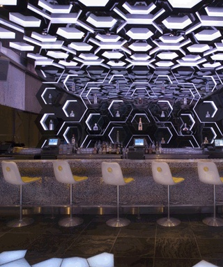Moon Nightclub Is A Super Popular That Sits 53 Floors Above Las Vegas Offering Amazing Views From The Futuristic Interior