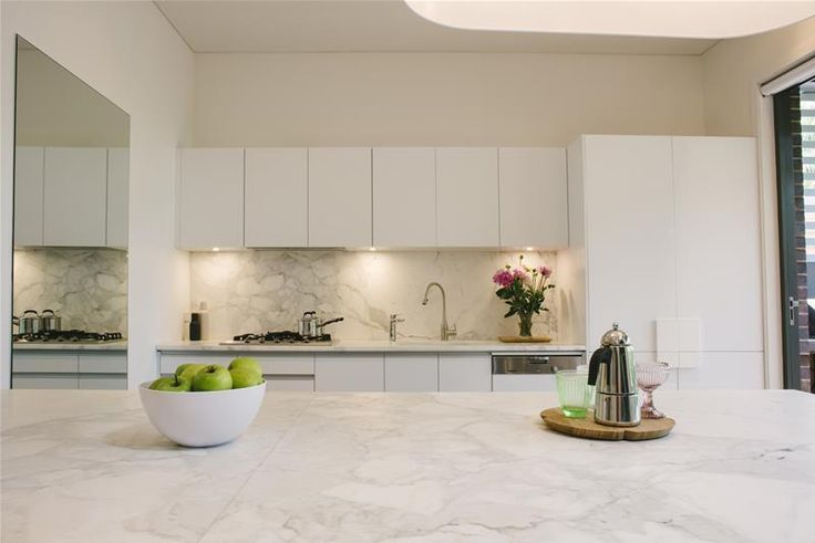 Josh and Jenna's kitchen...love the marble