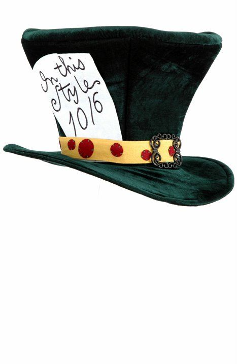 Deluxe Mad Hatter Top Hat - Alice in Wonderland Costumes - Candy Apple Costumes