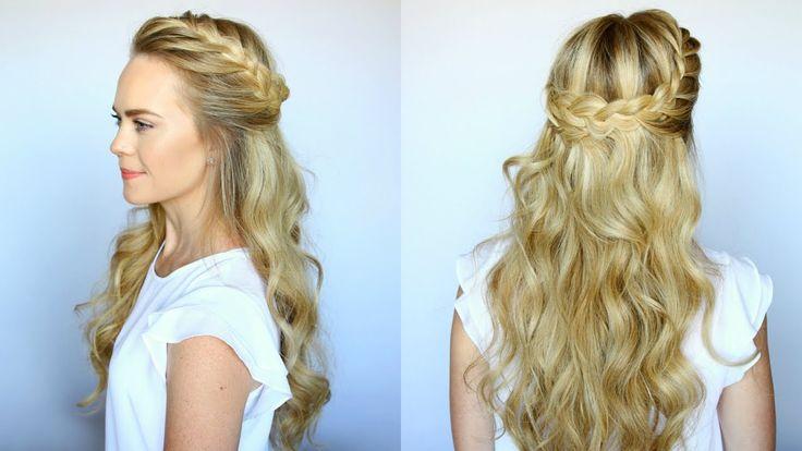 Half Up French Braid Crown | Missy Sue #Hair #Updo #HalfUp