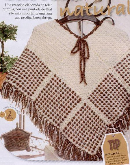 artesanias 08 Como hacer un poncho en telar