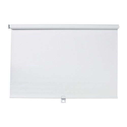 "IKEA - TUPPLUR, Block-out roller blind, 30x76 ¾ "", , The blind is cordless for increased child safety.The room darkening blind has a special coating and does not let any light through.Can be mounted inside or outside the window frame, or in the ceiling.You can cut the right side of the roller blind to fit your window."