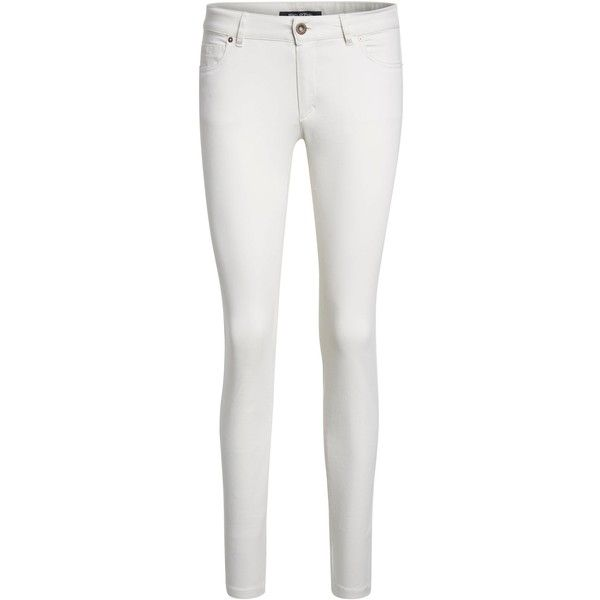 Marc O'Polo Alby Slim trousers ($140) ❤ liked on Polyvore featuring pants, beige, women, slim-fit trousers, woven pants, beige pants, slim pants and white slim pants