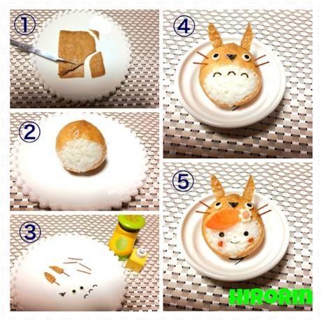 How to make onigiri totoro