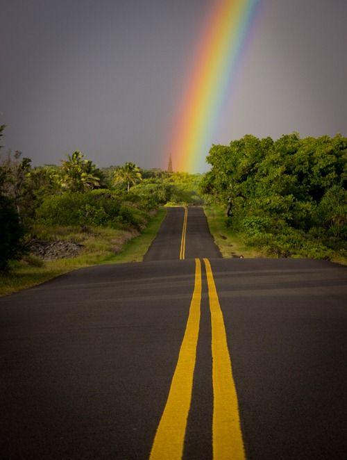 Hawaii rainbow on Hawaii's Big Island -- so vibrant!