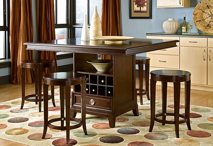 Urban Heights – Eat-in Kitchen   I would love a dining room table like this  #macysdreamfund