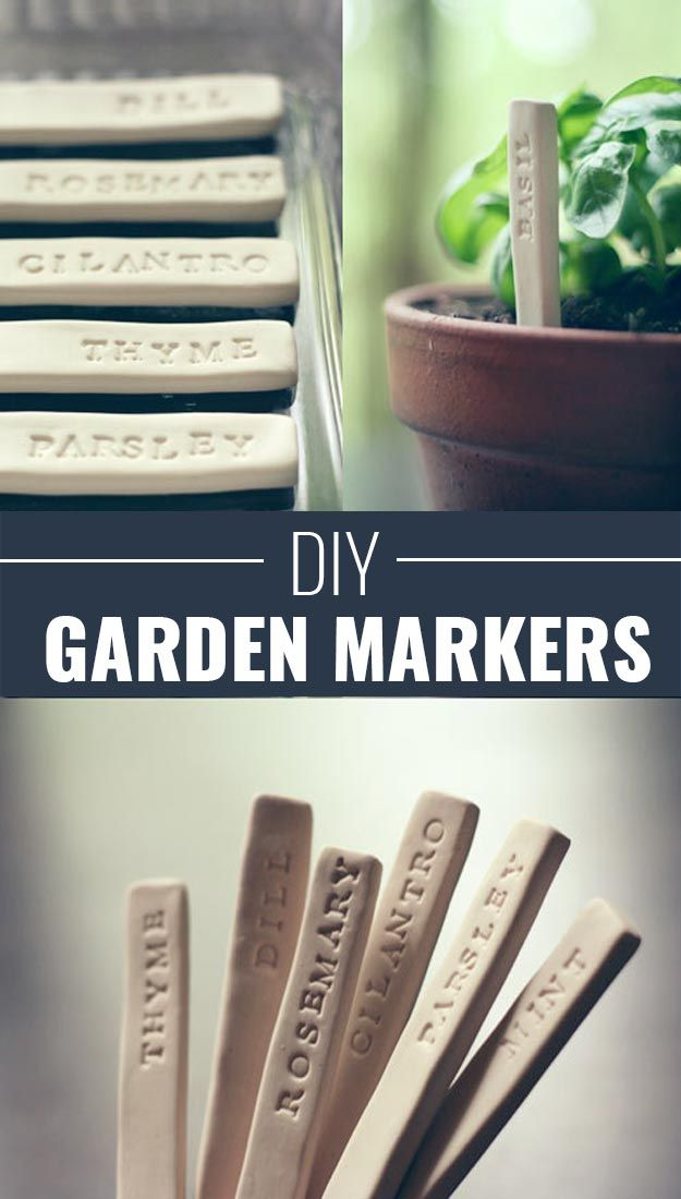 Fun Homemade Gifts for Friends | Cute DIY Stocking Stuffers for Christmas | Easy DIY Crafts  Ideas | DIY Garden Markers  http://diyjoy.com/cute-diy-stocking-stuffer-ideas