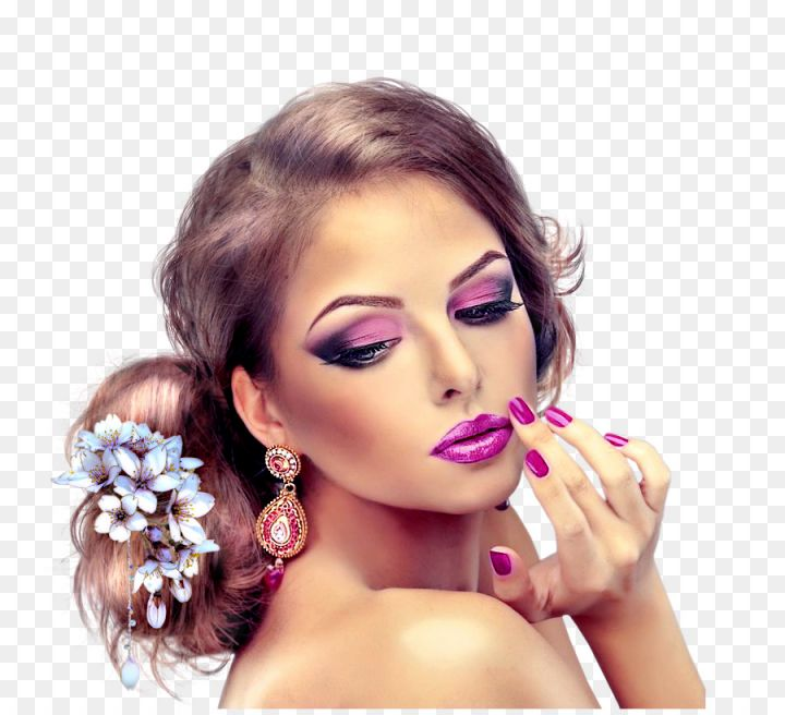 Beauty parlour cosmetics eyelash model beauty parlour