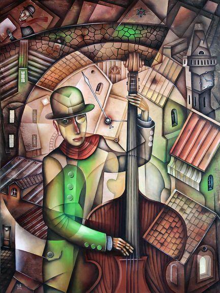 Night Jazz by Eugene Ivanov #eugeneivanov #cubism #avantgarde #threedimensional #cubist #artwork #cubistartwork #abstract #geometric #association #@eugene_1_ivanov
