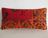 lumbar funky cushion orange throw pillows for couch red designer pillow oversized country home decor floor cushion fleur de lis kilim pillow