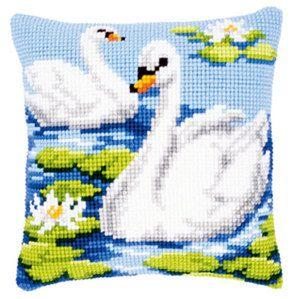 Набор для вышивание подушки Vervaco Два лебедя Вервако PN-0144079