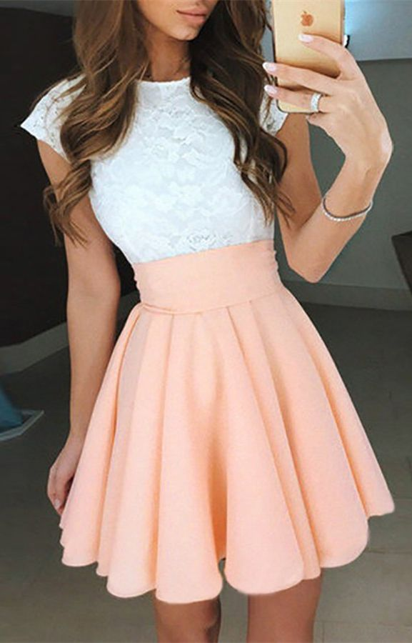 short homecoming dresses,pink homecoming dresses,short homecoming dresses,lace homecoming dresses