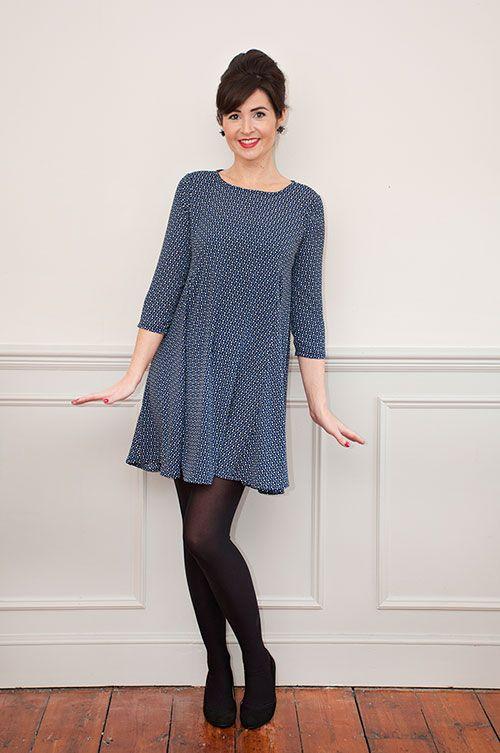 Sew Over It Nancy Dress Sewing Pattern - make yourself a pretty swing dress for next season
