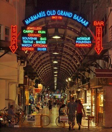 Marmaris, Türkiye Marmaris Grand Bazar entry along marina