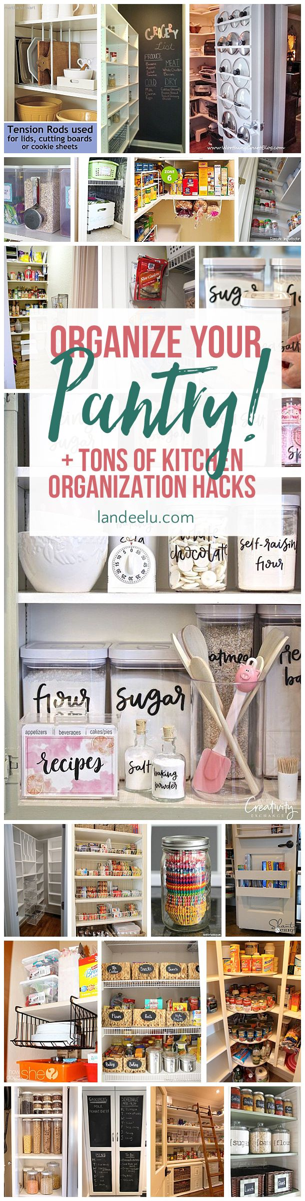 Get your kitchen organization on with these awesome ideas and hacks! Genius ideas to get your kitchen under control and back to being the heart of the home!