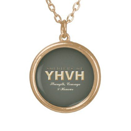 SOLDIERS OF YHVH Christian Gold Plated Necklace - jewelry jewellery unique special diy gift present