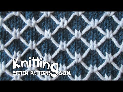 Watch video to learn how to knit the Two-color Royal Quilting stitch ++ Techniques used in this pattern: Knit: K   Purl: P   Slip stitch purlwise: Sl With ya...