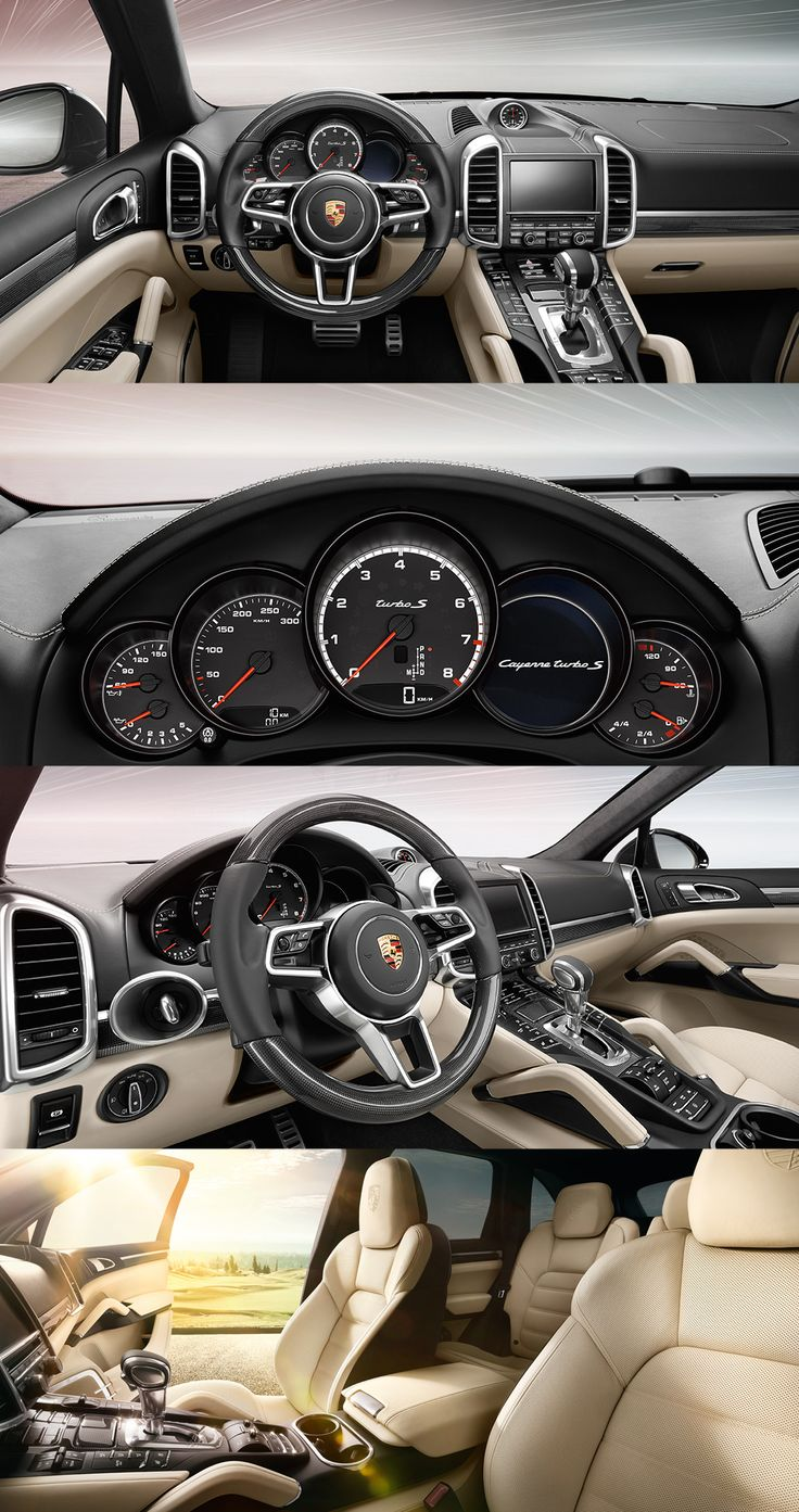 As well as setting your pulse racing, the interior is guaranteed to meet all of your requirements with regard to comfort. The new #PorscheCayenne Turbo S. Learn more: www.porsche.com/cayenne-turbo-s  *Combined fuel consumption in accordance with EU 6: 11.5 l/100 km, CO2 emissions 267 g/km