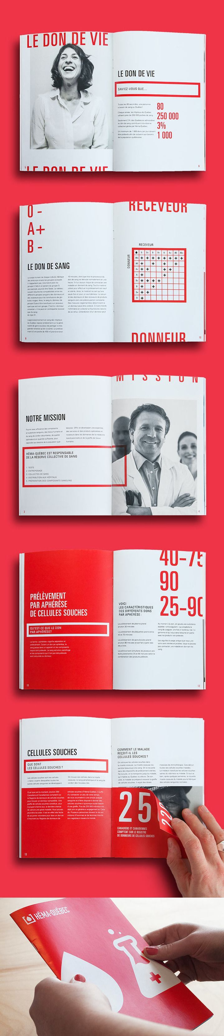 Héma-Québec by Ulys Bourassa Cousin Great bold strong type, thick rules, bright color accents. BB+