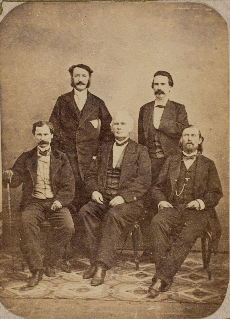 Five Confederate Generals who Fled to Mexico (J. B. Magruder, W. P. Hardeman, C. Wilcox, S. Price and T. H. Hindman)