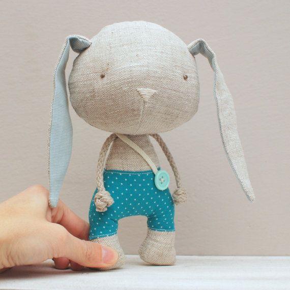Handmade bunny soft stuffed toy by LeebeeDesign on Etsy
