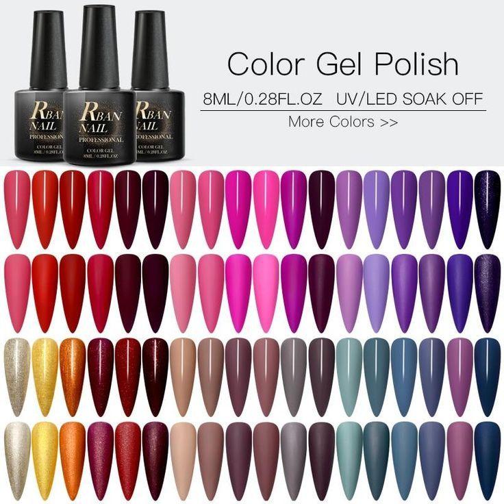 60 Colors Matte Uv Gel Nail Polish En 2020 Unas De Gel Uv Esmalte De Unas De Gel Gel De Unas