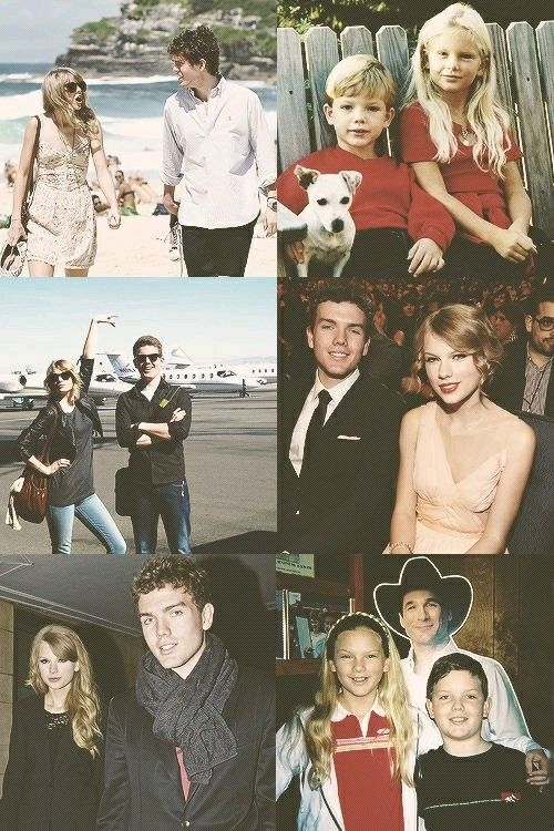 Taylor swift and Austin swift.