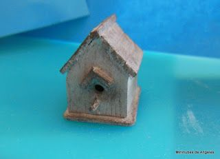 Birdhouse tute. Mini nubes de Angeles: Dia 19. Calendario de adviento.
