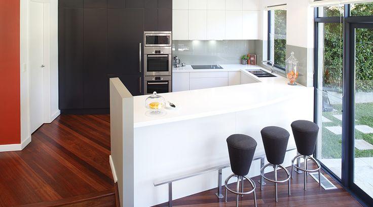 A sleek, understated kitchen with integrated appliances for a modern finish. #TheGoodGuys #Kitchen #Sleek