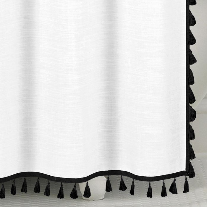 100% Cotton Tassel Shower Curtain & Reviews | AllModern