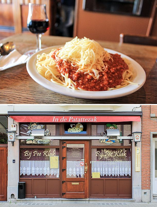 In de Patattezak bistro may just serve the best spaghetti in Belgium