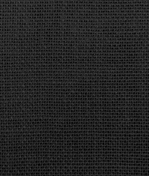Black Irish Linen Burlap